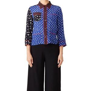 NWOT Marni Mash Up Silk Pajama Shirt Size 44